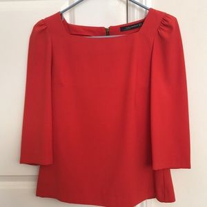 ZARA red blouse top